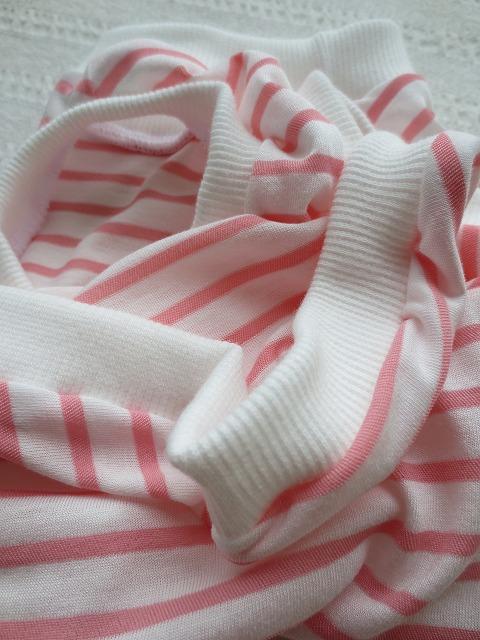 画像3: 【クール素材 ミラキュラスクール】 ピンク×白ボーダー