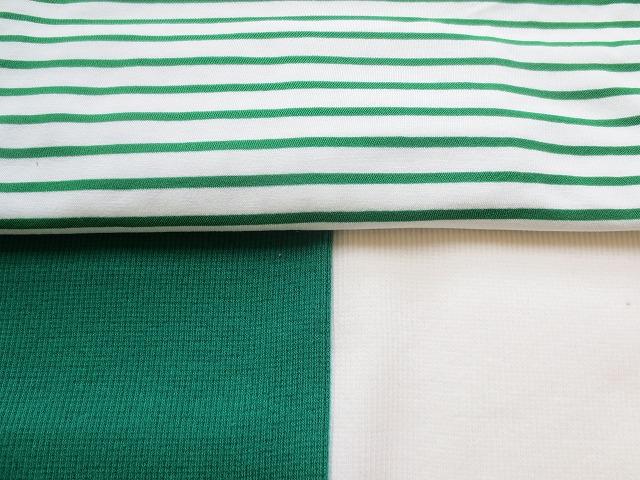 画像4: 【クール素材 ミラキュラスクール】 緑×白ボーダー