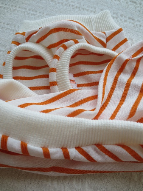 画像3: 【クール素材 ミラキュラスクール】 オレンジ×白ボーダー