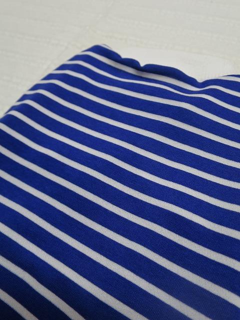 画像2: 【クール素材 接触冷感】 ミラキュラスクール ブルー×白ボーダー