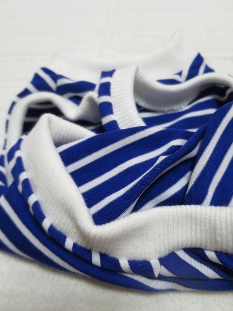 画像3: 【クール素材 接触冷感】 ミラキュラスクール ブルー×白ボーダー