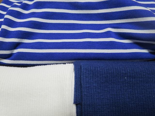 画像4: 【クール素材 接触冷感】 ミラキュラスクール ブルー×白ボーダー