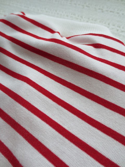 画像3: 【接触冷感 ミラキュラスクール】 赤×白ボーダー