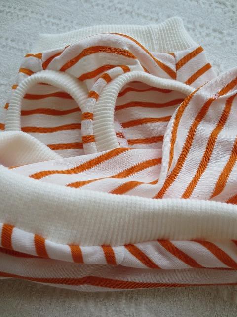 画像3: 【接触冷感 ミラキュラスクール】 オレンジ×白ボーダー