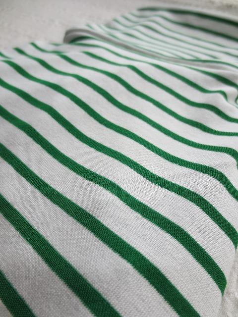 画像2: 【接触冷感 ミラキュラスクール】 緑×白ボーダー