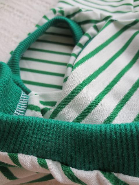 画像3: 【接触冷感 ミラキュラスクール】 緑×白ボーダー