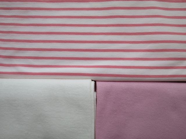 画像4: 【接触冷感 ミラキュラスクール】 ピンク×白ボーダー