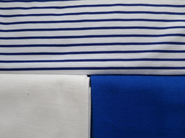 画像4: 【接触冷感 ミラキュラスクール】 青×白ボーダー