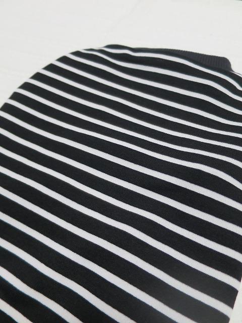 画像3: 【クール素材 接触冷感】 ミラキュラスクール 黒×白ボーダー