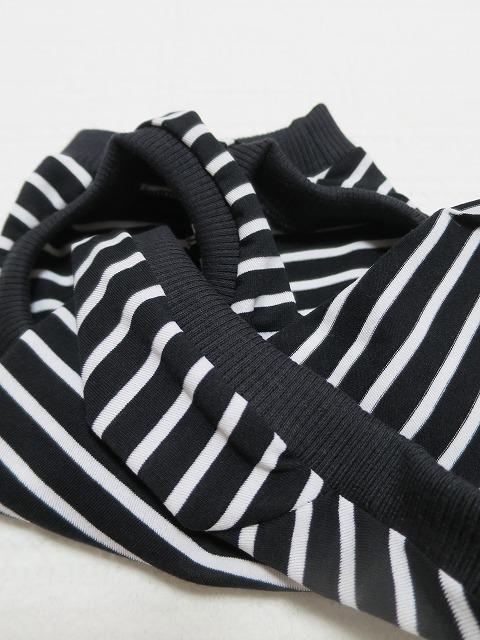 画像4: 【クール素材 接触冷感】 ミラキュラスクール 黒×白ボーダー
