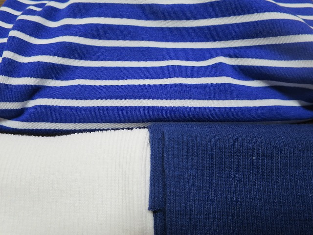 画像4: 【接触冷感 ミラキュラスクール】 ブルー×白ボーダー