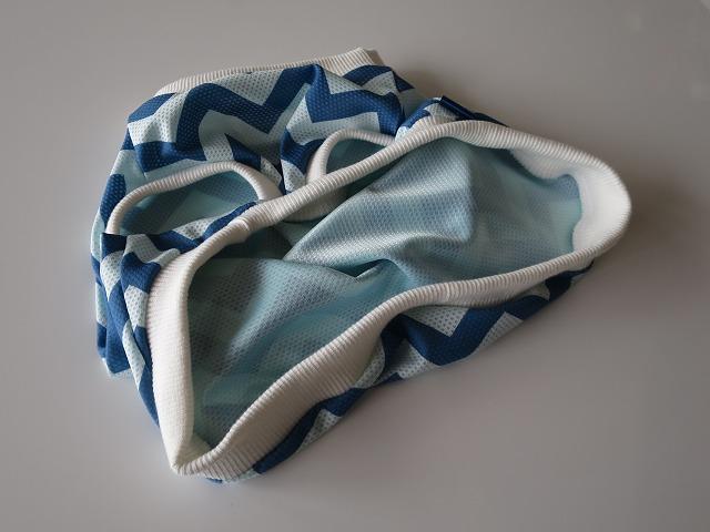 画像4: 【特殊冷感】ウォータークールクロス ギザギザ(ブルー)