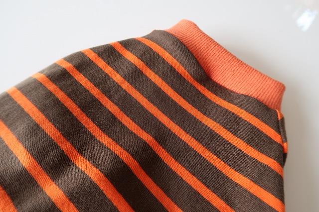 画像3: ストレッチニット オレンジ×カーキ